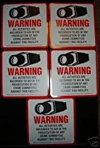 CCTV SECURITY WARNING DECALS