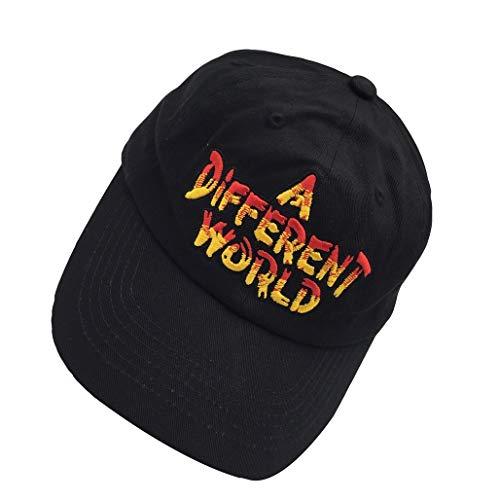 Shengyuan Lin A Different World Black Dad Hat Cotton Adjustable Baseball Cap Polo ()