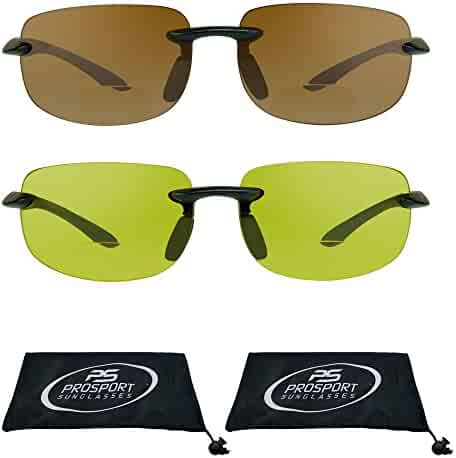 8ab8f79eee Rimless Bifocal Sun Glasses with Impact Resistant Polycarbonate Lenses.