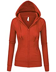 Womens Multi Colors Thermal Zip Up Casual Hoodie Jacket