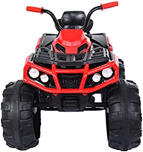 Kids Ride-on Car with Parental Remote, Children Electric Toy 2.4g 4wd Off-Road RC Car Manned Truck Dual Mode Support, Gifts for 3-7 Years Old (Red)