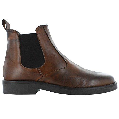 Braun Stiefeletten Mehrfarbig Stiefel Herren Bottoni Italienische Schuhe Italiane Scarpe Chelsea Boots Leder Hx8XPHFw