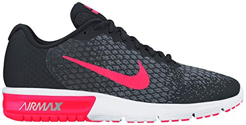 Nike Air Max Sequent 2 Chaussure De Course Noir / Racer Rose / Anthracite / Gris Froid