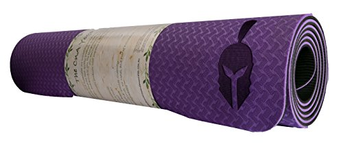 Yoga Mat / Exercise Mat by CnA Premium - ¼ Inch Thick 72 inch Long 24 inch Wide - Grippy Underside