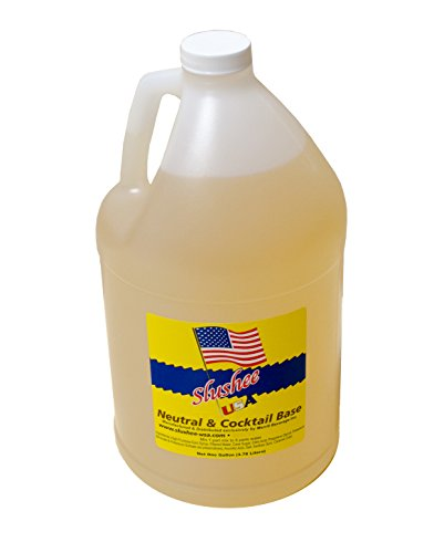 Concentrated Drink (Neutral & Cocktail Base Slushie Mix - 1 Gallon - 128 oz (yields approximately 96-12oz servings) Mixing Ratio 5 (Water) to 1 (Product Mix))