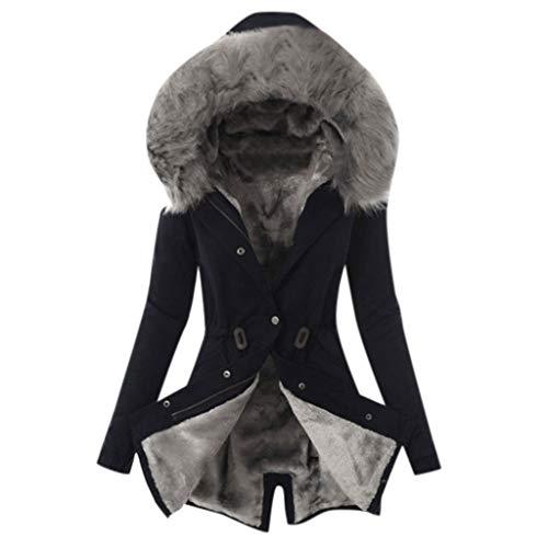 ✿ HebeTop ✿ Womens Hooded Warm Winter Coats with Faux Fur Lined Outwear Jacket