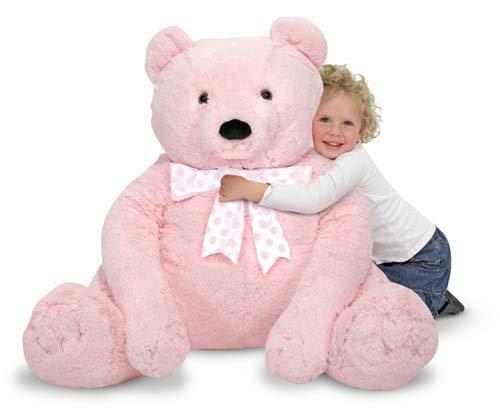 Melissa & Doug Jumbo Pink Teddy Bear