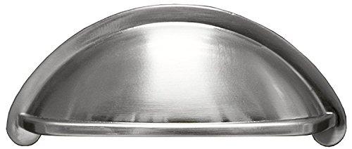 Satin Nickel Kitchen Cabinet Pulls - 3 Inch Bin Cup Drawer Handles - 10 Pack of Kitchen Cabinet Hardware