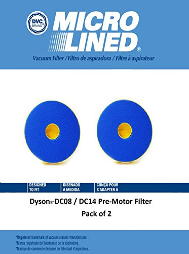DVC Micro-Lined DVC Created Dyson DC08/DC14 Pre-Motor Filter 2 Pack by DVC Micro-Lined
