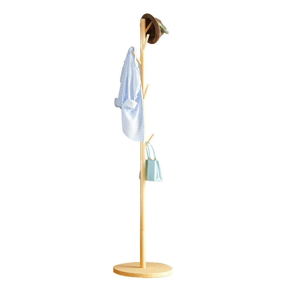 Angel's Home Clothes Rack Modern Coat Stand Office Bedroom Hat Coat Rack Floor Nordic Hanger Simple Clothes Tree Living Room Hall Household