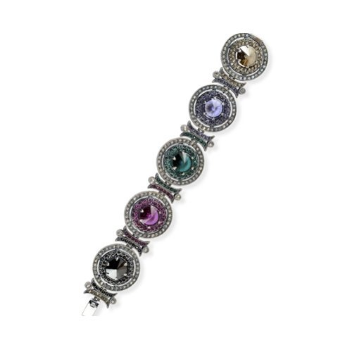 Argent et Swarovski Elements bracelet