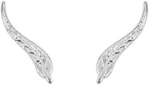 1 Pair Metal Leaf Ear Cuffs Sweep Wrap Brincos Simple Silver Gold Climber Women Clip Earrings-Silver
