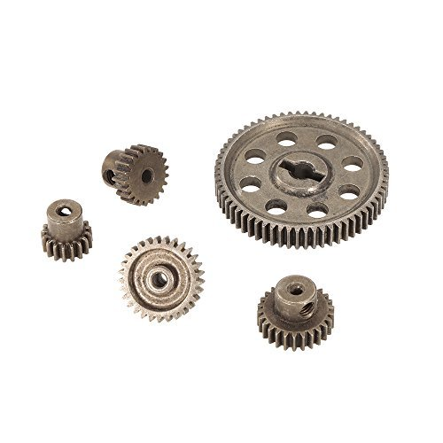 Goolsky Diff Differential Main Metal Spur Gear 64T 17T 21T 26T 29T Motor Gear RC Part for HSP 1/10 Monster Truck BRONTOSAURUS 94111 ()