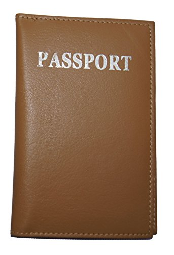AG Wallets Genuine Leather Travel Passport Cover ()