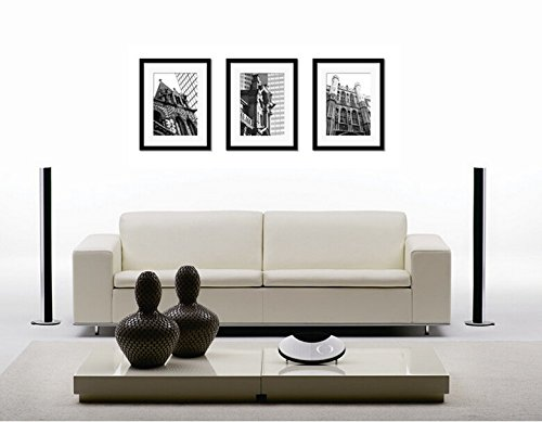 Without Photo 3pcs A3 Wooden Photo Frame Wall Hanging Art Home Decor Modern Picture Photo