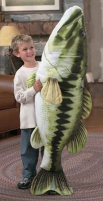 Giant Stuffed Fish Large Bass - Green from Tree House Kids - Toys