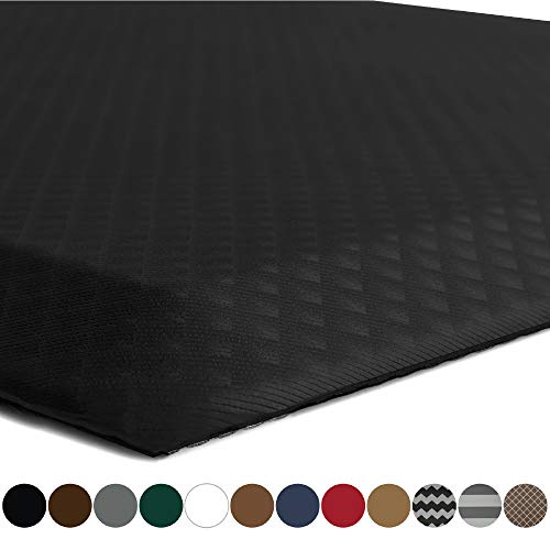 Kangaroo Original Standing Mat Kitchen Rug, Anti Fatigue Comfort Flooring, Phthalate Free, Commercial Grade Pads, Waterproof, Ergonomic Floor Pad for Office Stand Up Desk, 70x24, Black