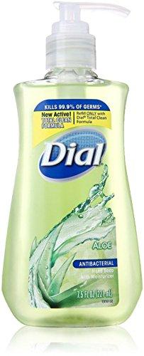 Dial Liquid Antibacterial Liquid Hand Soap, Moisturizing Aloe, Pump, 7.5 (Dial Antibacterial Hand Sanitizer Pump)