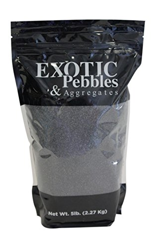 Exotic Glass 100519865 Exotic Pebbles Black Decorative Sand, 5 lb