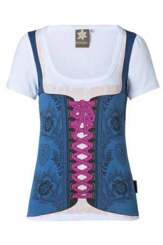 Dirndl-Shirt mit Rundumdruck MOD-05-blau XL