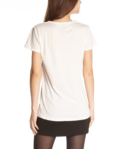 Pepe Jeans Yolan - Camiseta con cuello redondo de manga corta para mujer Blanco crudo (Off-white) 803