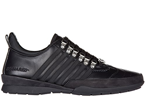Dsquared2 chaussures baskets sneakers homme en cuir 251 veau noir