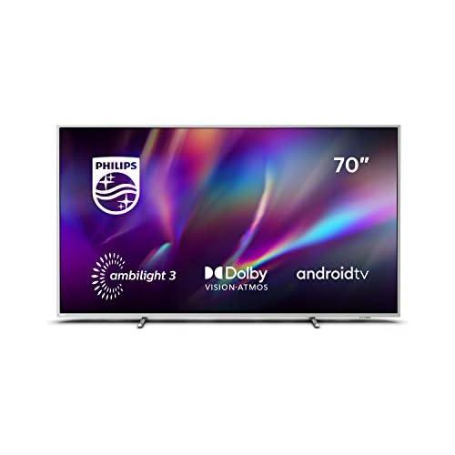 chollos oferta descuentos barato Philips Televisor Ambilight 70PUS8505 12 Smart TV de 70 pulgadas 4K UHD P5 Perfect Picture Engine Dolby Vision Dolby Atmos Control de voz Android TV Color plata claro modelo de 2020 2021