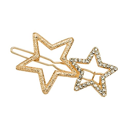 Botrong Fashion Chic Star Hair Clips Girls Hair Buckle Hairpin Hairgrip Headdress (Gold)]()