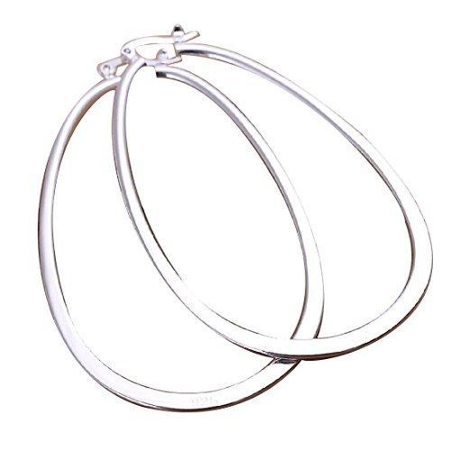 Elegant Fashion Jewelry 925 Silver Plated Stud Dangle Earings Eardrop Big Skeleton Flat (Elegant Fashion Jewelry)