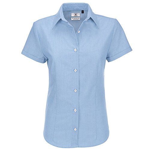 Bleu amp;c Femme Oxford Collection Chemisier Moderne B dHqvwXH
