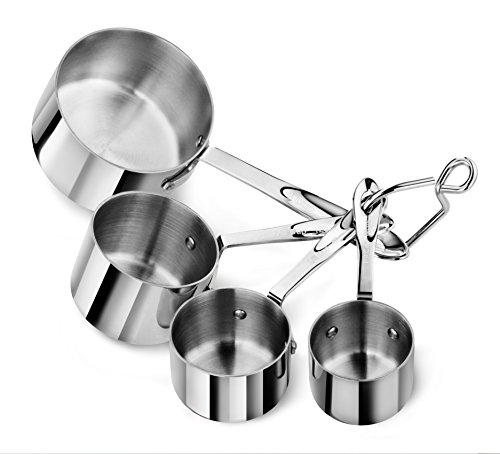 Artaste 43143 Stainless Steel 18/8 Measuring Cups (Set of 4), Silver