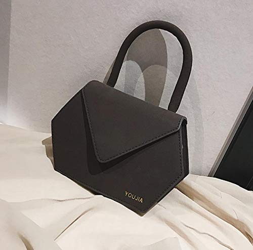 Coffee Color Best Gift for You JINGB Simple Stylish Solid Color Scrub Single Shoulder Crossbody Hand Bag Envelope Bag