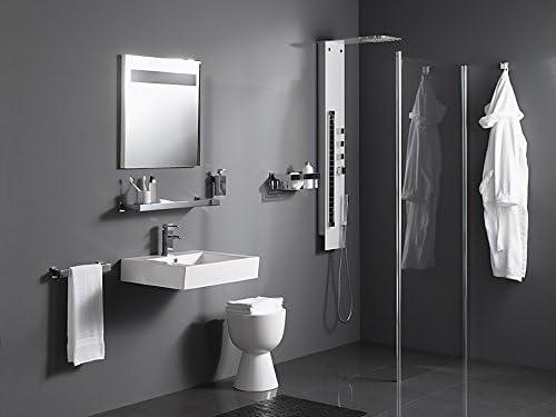 Haceka Double Towel Rail Edge, Stainless_Steel, Silver