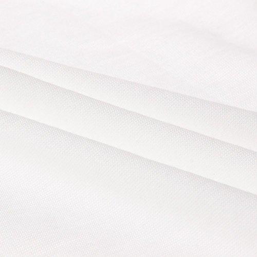 Beauty7 Top de T¨²nica Suelta Manga Media Nueva Falda Irregular Algod¨®n Colores Casual Flexible C¨®modo Suave Vestidos Mujeres Camisa Verano Primavera Oto?o Blanco Rosa Gris Verde Negro Blanco