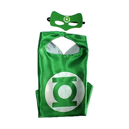 Green Lantern Costumes For Sale (Athena DC Superheroes Dress Up - Green Lantern Logo Cape and Mask Gift Box Included)