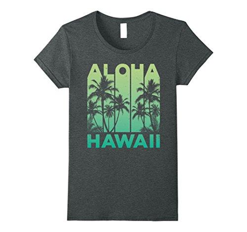 Womens Vintage Hawaiian Islands Tee Hawaii Aloha State T Shirt Medium Dark Heather