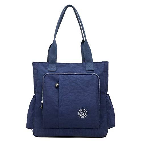 Women's Casual Tote Darkpurple AgooLar GMDBA206553 Shopping Nylon Darkblue Tote Bags Style Bags dxqaYSwa