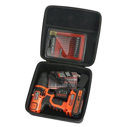 Khanka Hard Case for BLACK+DECKER LDX120C 20-Volt MAX Lithium-Ion Cordless Drill/Driver Drill Case