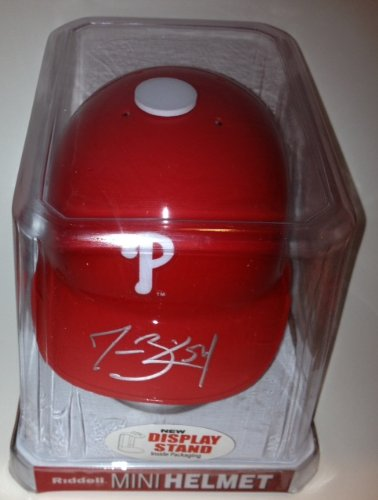 Jesse Biddle Signed Philadelphia Phillies Mini Batting Helmet From Signing W/coa