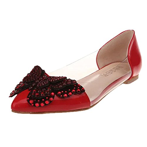 Toe Eleganti Comfort Sandali Infradito Pantofole Antiscivolo Leggero Casuale Spiaggia Open Classico Pantofole Scarpe Rosso Estate Moda Donne POwfR