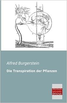 Book Die Transpiration der Pflanzen