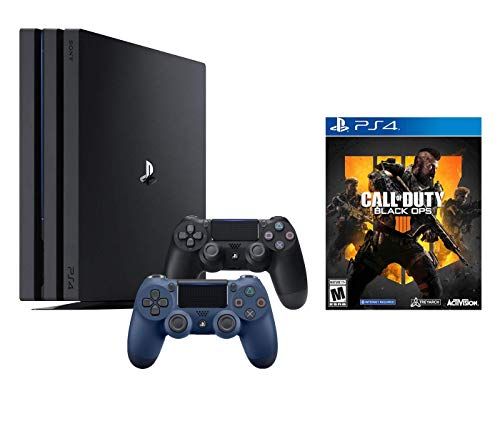 PlayStation 4 Call of Duty Black Ops IIII and 4K HDR PlayStation 4 Pro 1 TB Console with Extra Midnight Blue Dualshock 4 Wireless Controller (Split-Screen Play Available)