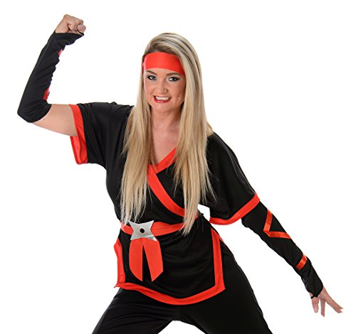 Women's Ninja Girl Costume Halloween (XS) (Scary Couples Costume)