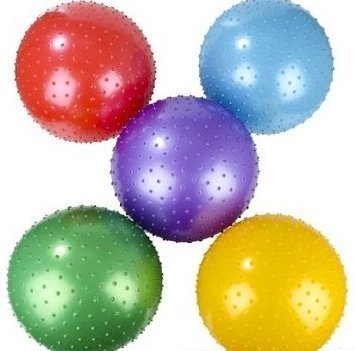 18 Inch Knobby Ball 5 Pack Assorted Colors