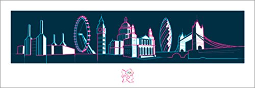 2012 Olympic Poster - Pyramid America London 2012 Olympics Poster 38x13 inch