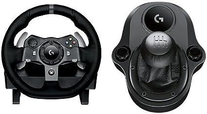 Logitech G920 Driving Force Volante de Cuero de Carreras y Pedales ...
