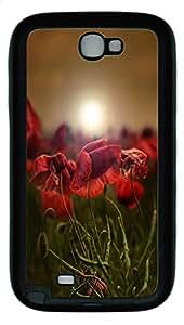 Samsung Note II Case Mohnfeld TPU Custom Samsung Note 2 Case Cover Black