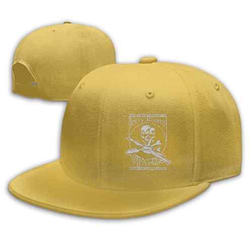 DSJIF FEKJFWEJF VFA-103 Jolly Rogers Adjustable Cotton Baseball Cap Yellow ()