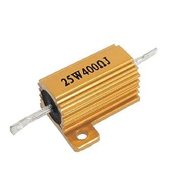 Tono eDealMax Oro bobinados Carcasa de aluminio Resistencias ...