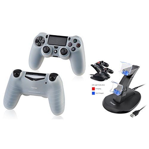 Vertical Stand Dock and Cradle Holder for Sony Playstation 4 - 7